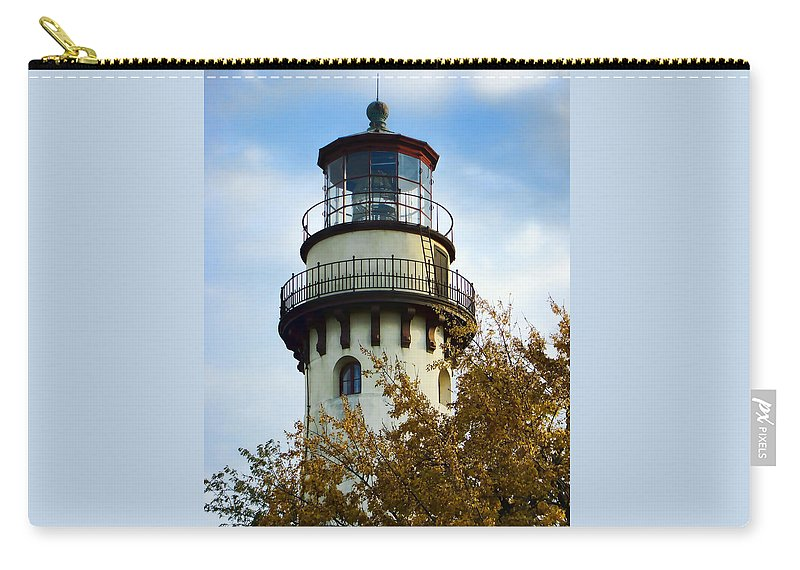Grosse Point Lighthouse Carry-all Pouch featuring the photograph Grosse Point Lighthouse by Phyllis Taylor