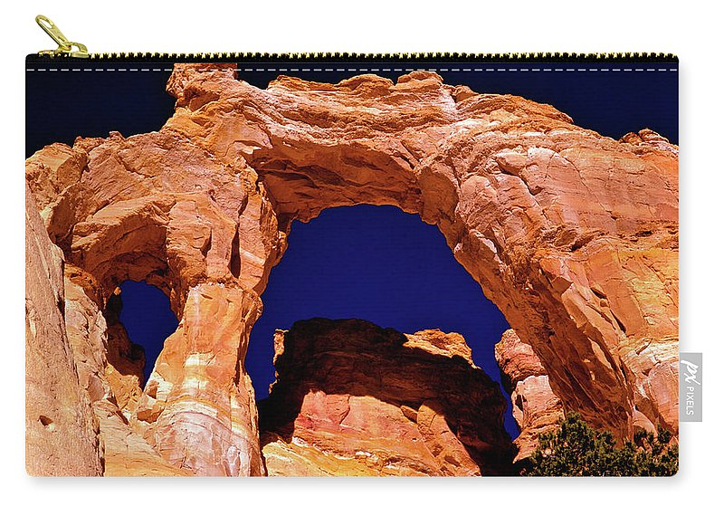 Arch Carry-all Pouch featuring the photograph Grosvenor Arch Sunset Kodachrome Basin by Ed Riche