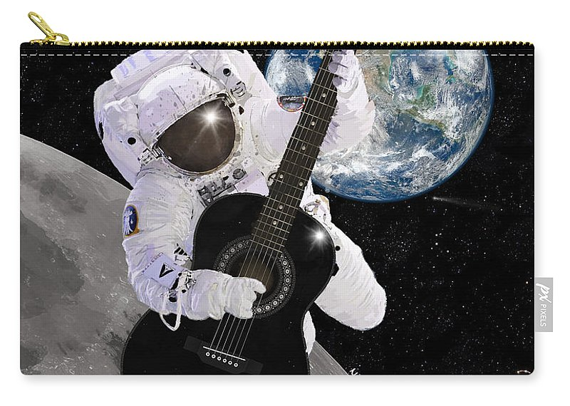 Astronaut Carry-all Pouch featuring the digital art Ground Control To Major Tom by Nikki Marie Smith