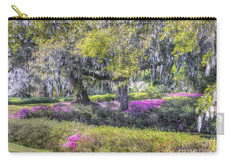 Azalea Carry-all Pouch featuring the photograph Grounds Of Middleton by Dale Powell