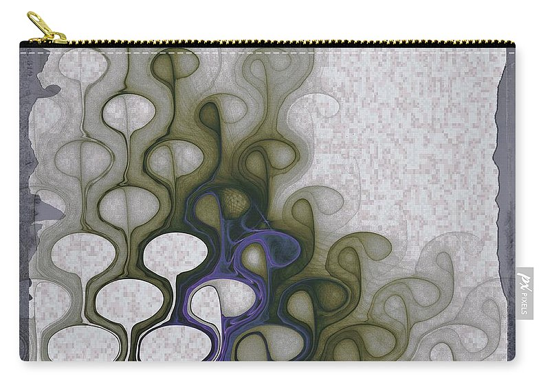Digital Art Carry-all Pouch featuring the digital art Group Discussion by Amanda Moore