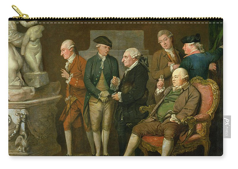 Gentlemen Carry-all Pouch featuring the painting Group Of Connoisseurs by Richard Cosway