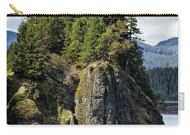 Tree Carry-all Pouch featuring the photograph Growing From Rock by Belinda Greb