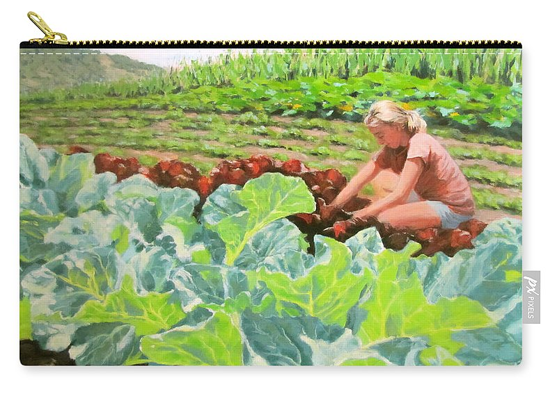 Landscape Carry-all Pouch featuring the painting Growing Hope by Karen Ilari