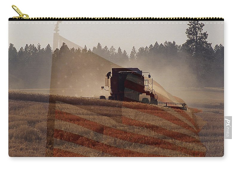 Wheat Carry-all Pouch featuring the photograph Grown In America by Sharon Elliott
