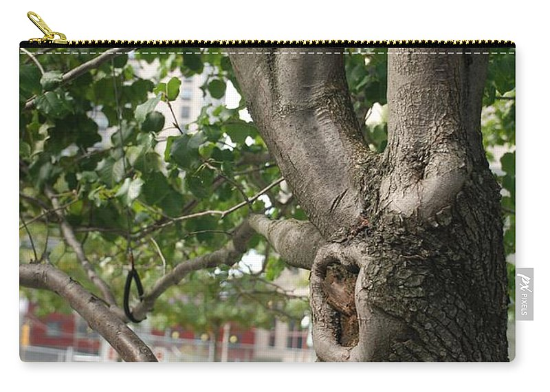 Wtc Carry-all Pouch featuring the photograph Growth On The Survivor Tree by Rob Hans