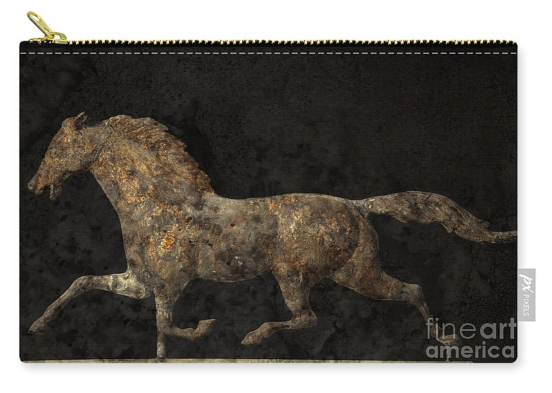 Weathervane Carry-all Pouch featuring the photograph Grungy Antique Weathervane by John Stephens
