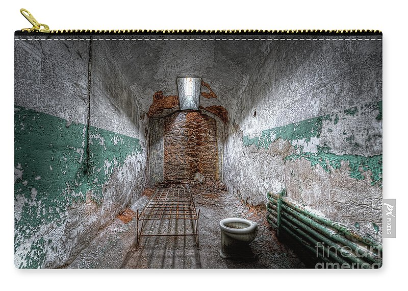 Pa Carry-all Pouch featuring the photograph Grungy Prison Cell by Michael Ver Sprill
