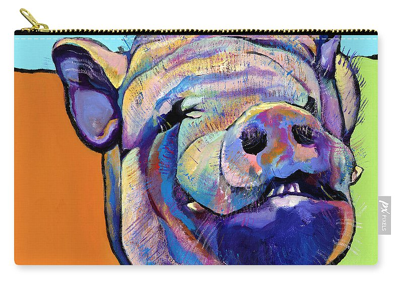 Pat Saunders-white Canvas Prints Carry-all Pouch featuring the painting Grunt  by Pat Saunders-White