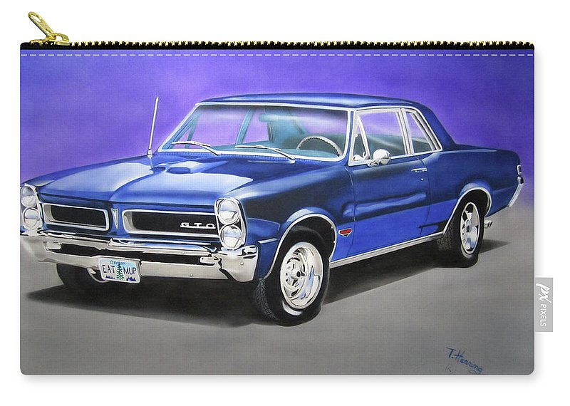Gto Carry-all Pouch featuring the painting Gto 1965 by Thomas J Herring