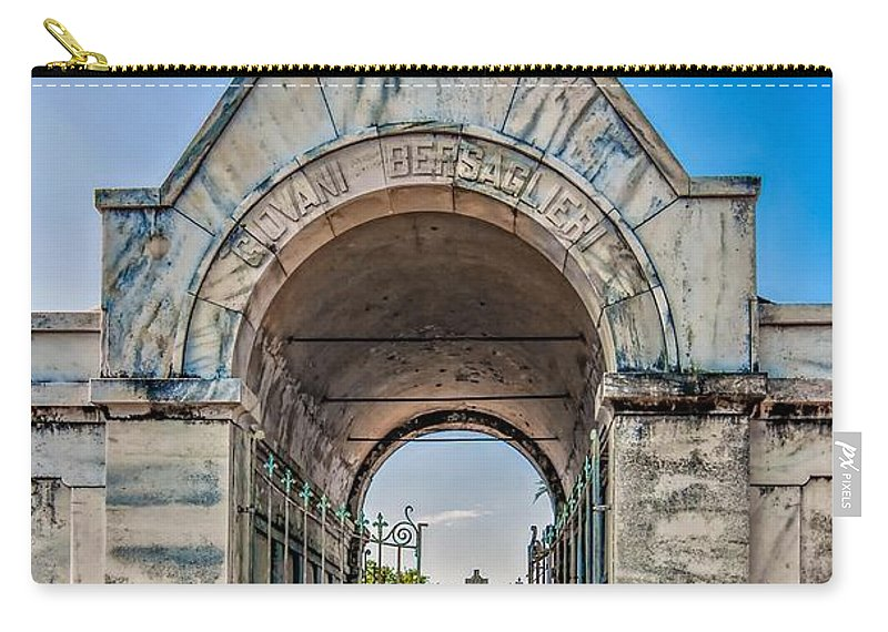Metairie Cemetery Carry-all Pouch featuring the photograph Guardian Angel by Steve Harrington