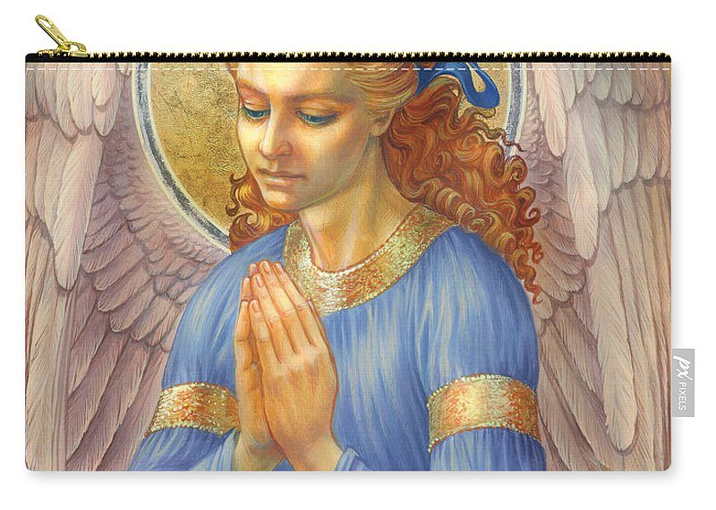 Guardian Angel Carry-all Pouch featuring the digital art Guardian Angel by Zorina Baldescu