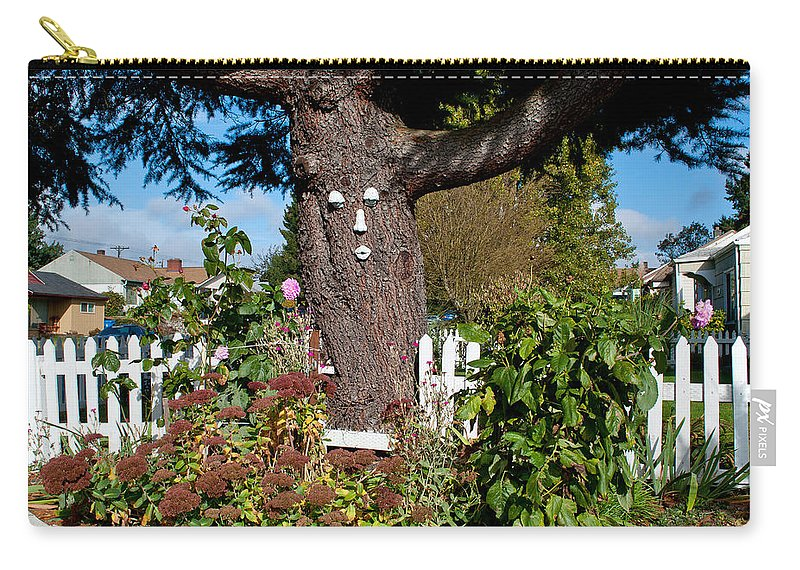 Tree Carry-all Pouch featuring the photograph Guardian Of The Flowers by Tikvah's Hope