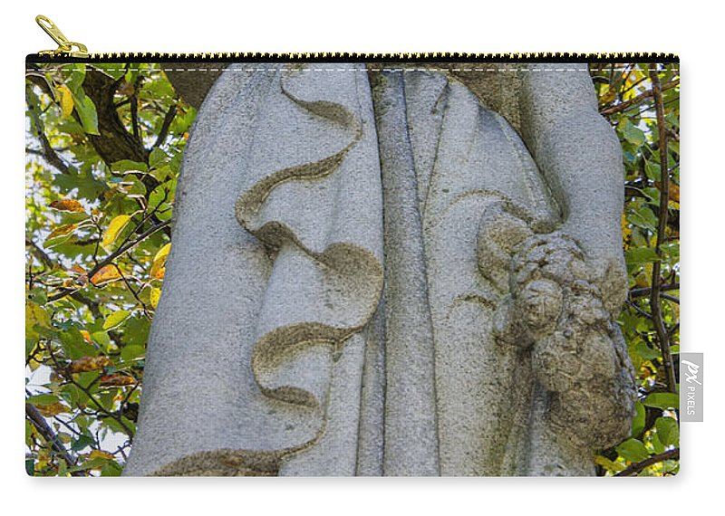 Tombstone Carry-all Pouch featuring the photograph Guardians Of The Departed 4 by Susan McMenamin