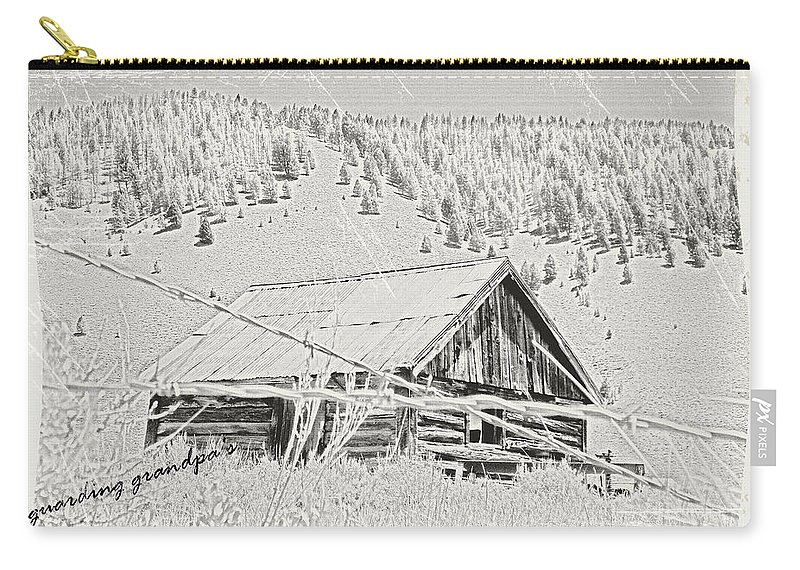 Cabin Carry-all Pouch featuring the photograph Guarding Grandpa's Cabin by Susan Kinney