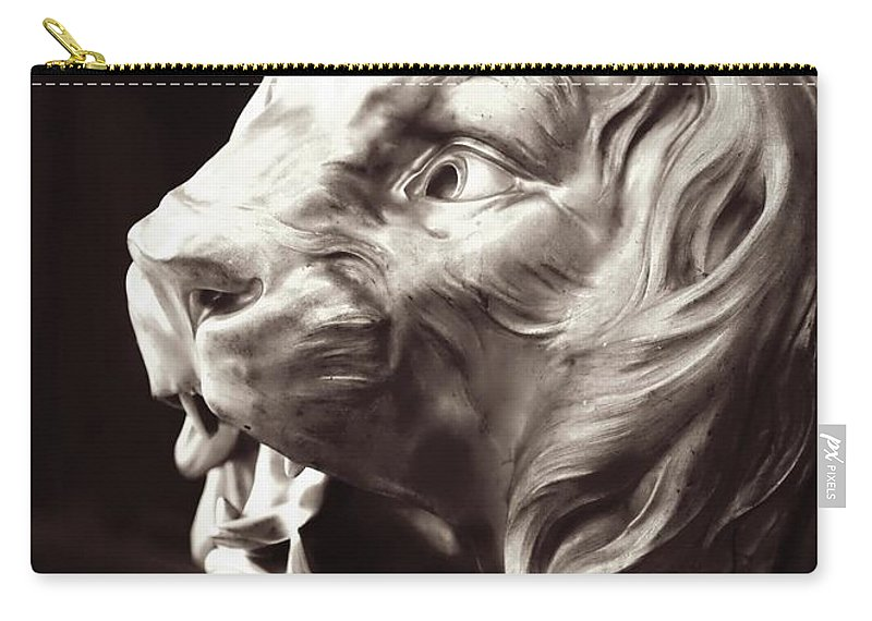 Lion Carry-all Pouch featuring the photograph Guarding The Palace by Carol Groenen