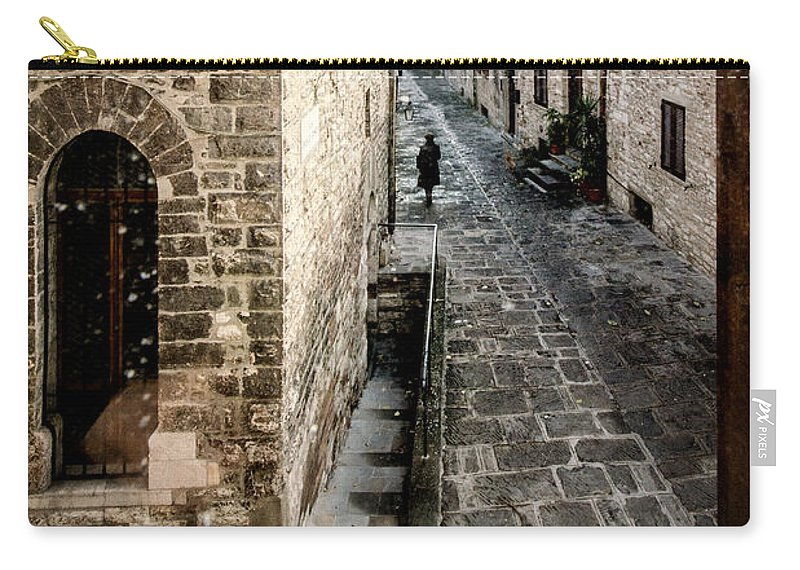 Carry-all Pouch featuring the photograph Gubbio Through The Window by Giuliano Iunco