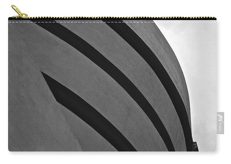 Guggenheim Art Museum Carry-all Pouch featuring the photograph Guggenheim Exterior by Eric Tressler