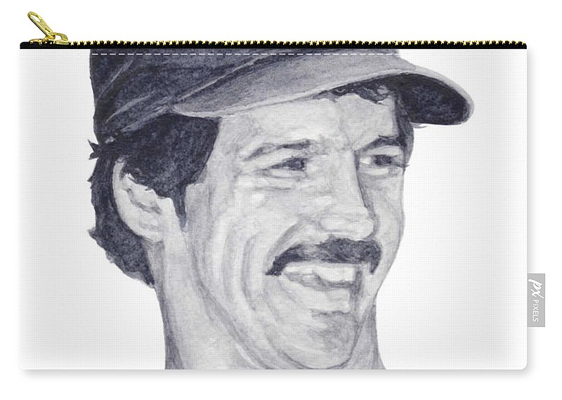 Ron Guidry Carry-all Pouch featuring the painting Guidry by Tamir Barkan