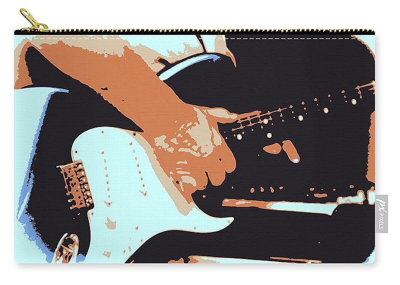 Guitar Carry-all Pouch featuring the photograph Guitar And Man by Travis Truelove
