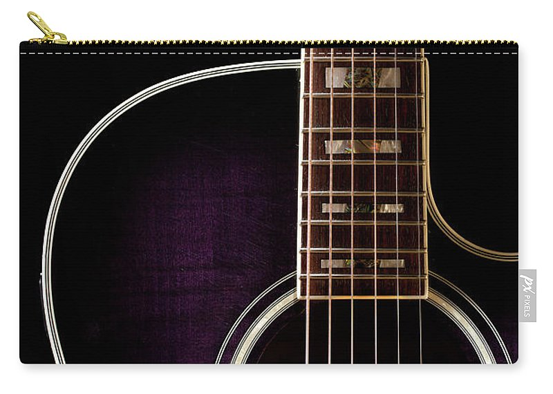 Music Carry-all Pouch featuring the photograph Guitar by Daniel T Jester