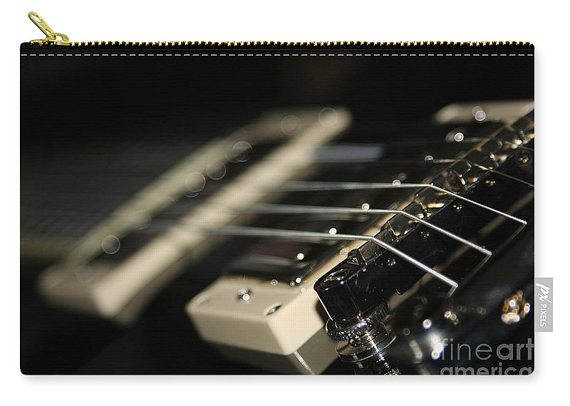 Guitar Carry-all Pouch featuring the photograph Guitar Glance by Karol Livote