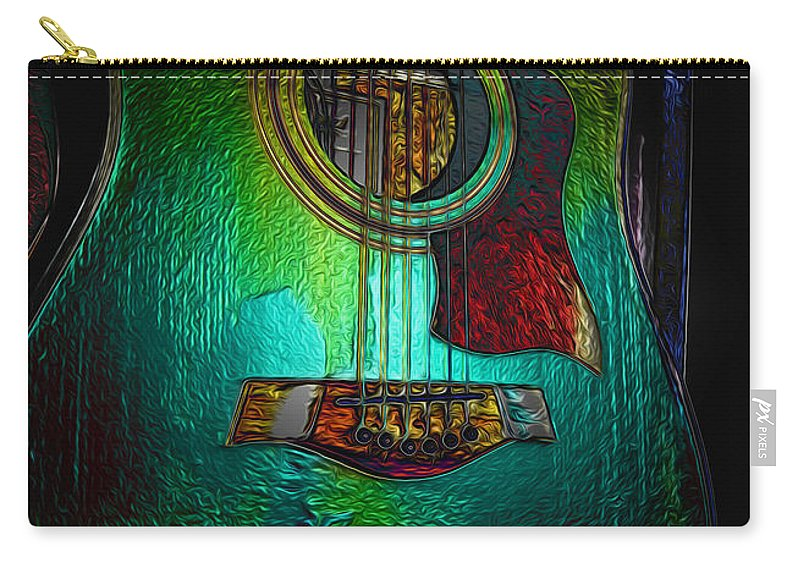 Guitar Art Carry-all Pouch featuring the photograph Guitar Metalica by P Donovan