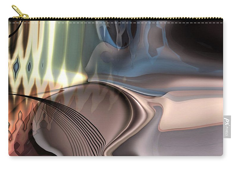 Music Carry-all Pouch featuring the painting Guitar sound by Christian Simonian