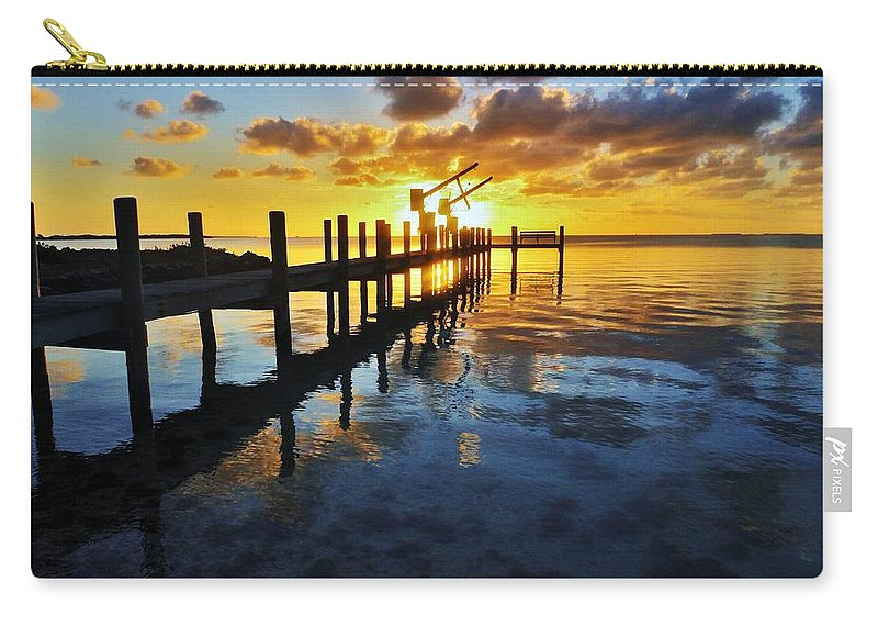 Florida Carry-all Pouch featuring the photograph Gulf Coast Sunset by Benjamin Yeager