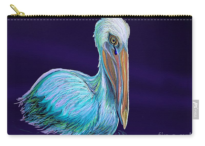 Pelican Art Carry-all Pouch featuring the digital art Gulf Coast Survivor by Nick Gustafson