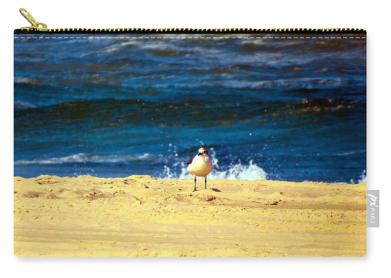 Nature Carry-all Pouch featuring the photograph Gull Goer by Art Dingo