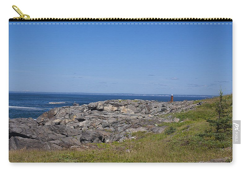 Gull Carry-all Pouch featuring the photograph Gull Perch by Jean Macaluso