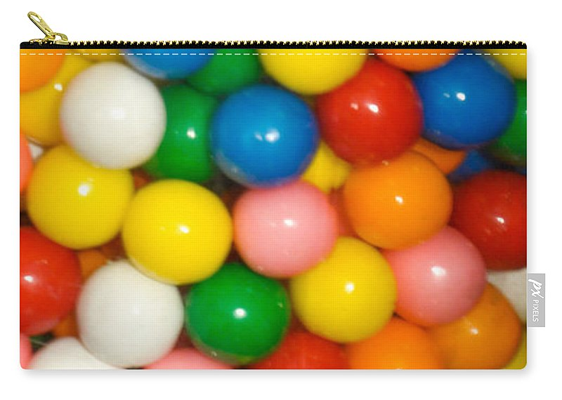 Gumballs Carry-all Pouch featuring the photograph Gumballs by Ronald Grogan