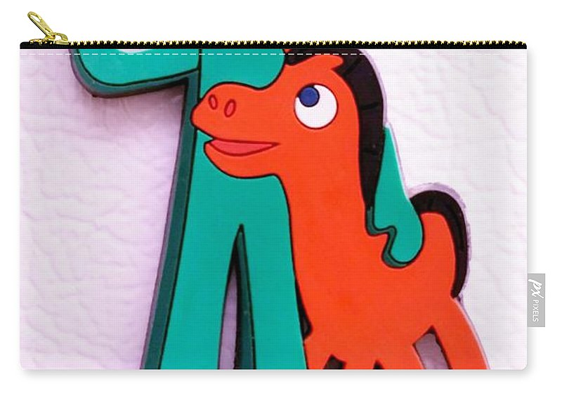 Gumby Carry-all Pouch featuring the photograph Gumby And Pokey B F F by Rob Hans