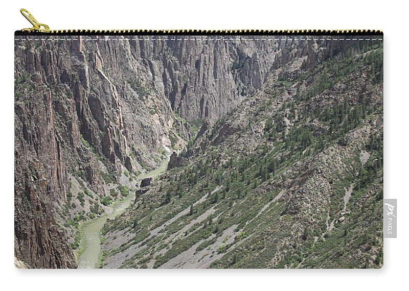 Black Canyon Of The Gunnison Carry-all Pouch featuring the photograph Gunnison River At The Base Of Black Canyon Of The Gunnison by Christiane Schulze Art And Photography