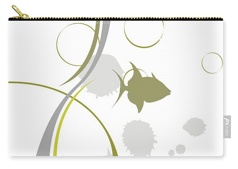 Graphics Carry-all Pouch featuring the digital art Gv078 by Marek Lutek