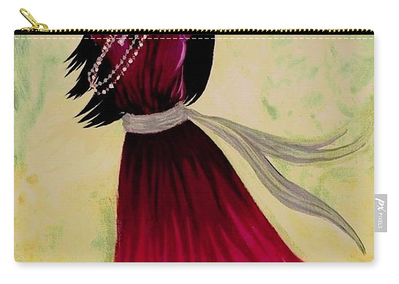 Gypsy Dancer Carry-all Pouch featuring the painting Gypsy Dancer by Sophia Schmierer