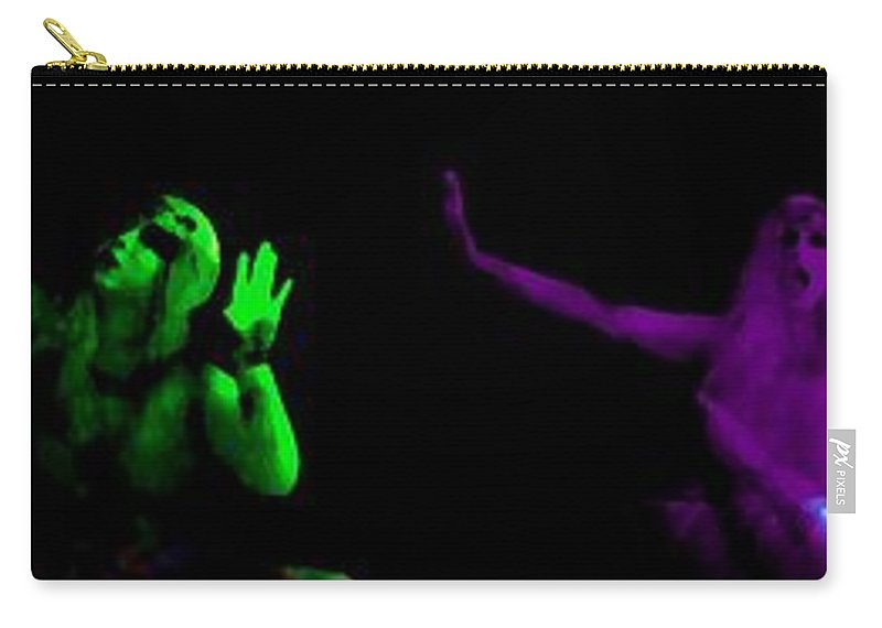 Blue Carry-all Pouch featuring the photograph Gypsy Of The Strange by Jessica Shelton