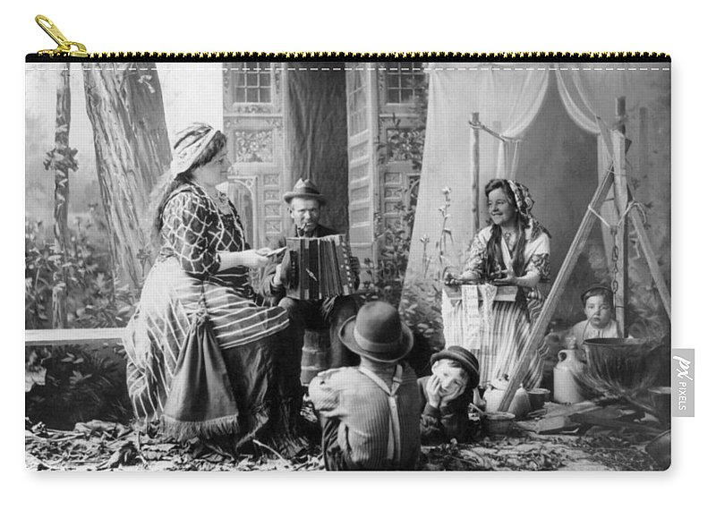 1902 Carry-all Pouch featuring the photograph Gypsyies, C1902 by Granger