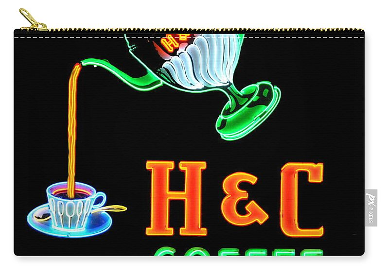 H&c Coffee Carry-all Pouch featuring the photograph H And C Sign by Eric Liller