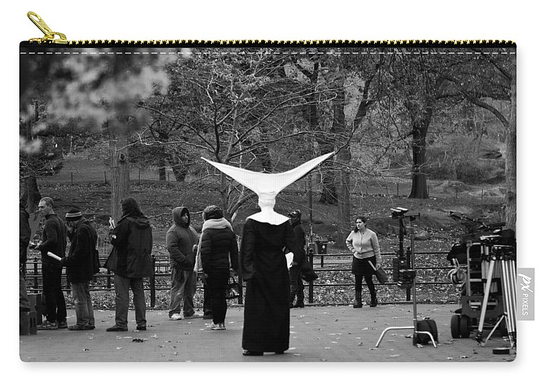 New York City Carry-all Pouch featuring the photograph Habit In Central Park by Lorraine Devon Wilke