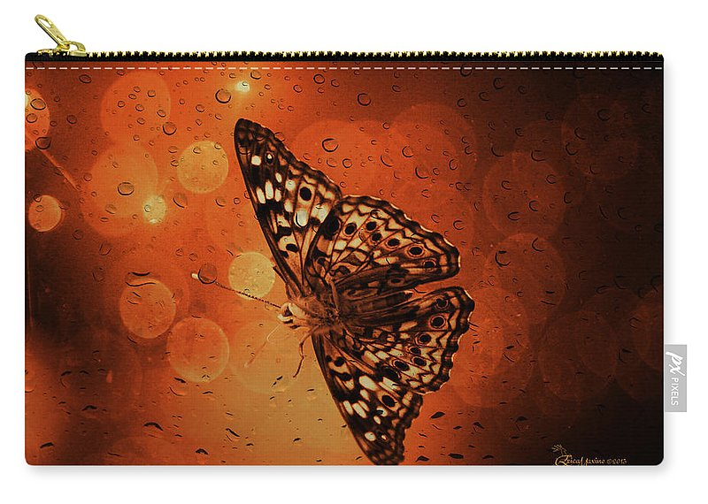Hackberry Emperor Carry-all Pouch featuring the photograph Hackberry Emperor - Asterocampa Celtis by Ericamaxine Price