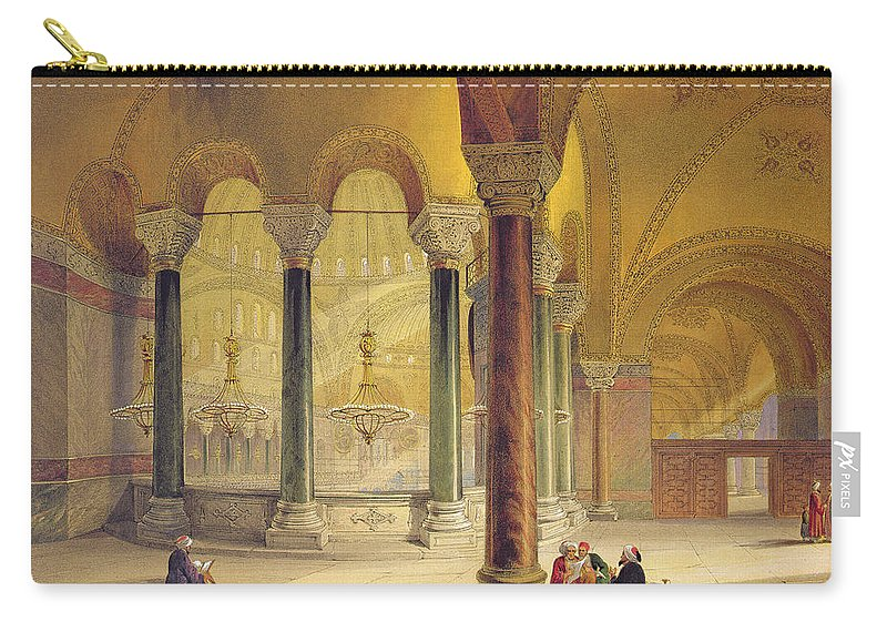 Architecture Carry-all Pouch featuring the drawing Haghia Sophia, Plate 11 The Meme by Gaspard Fossati