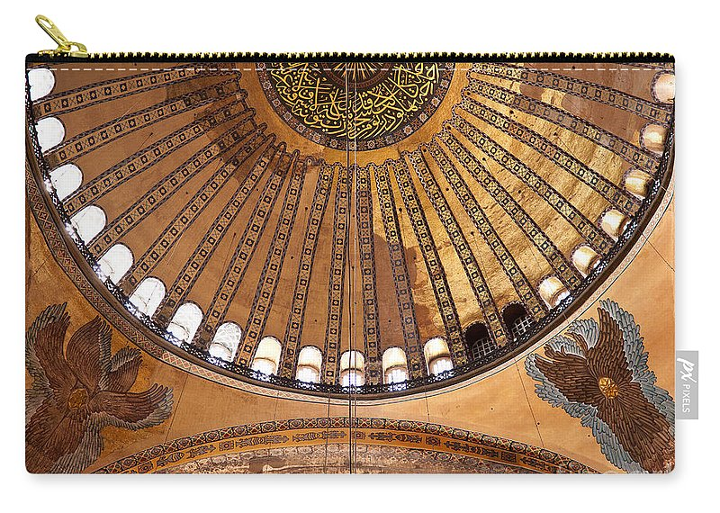 Istanbul Carry-all Pouch featuring the photograph Hagia Sophia Dome 02 by Rick Piper Photography