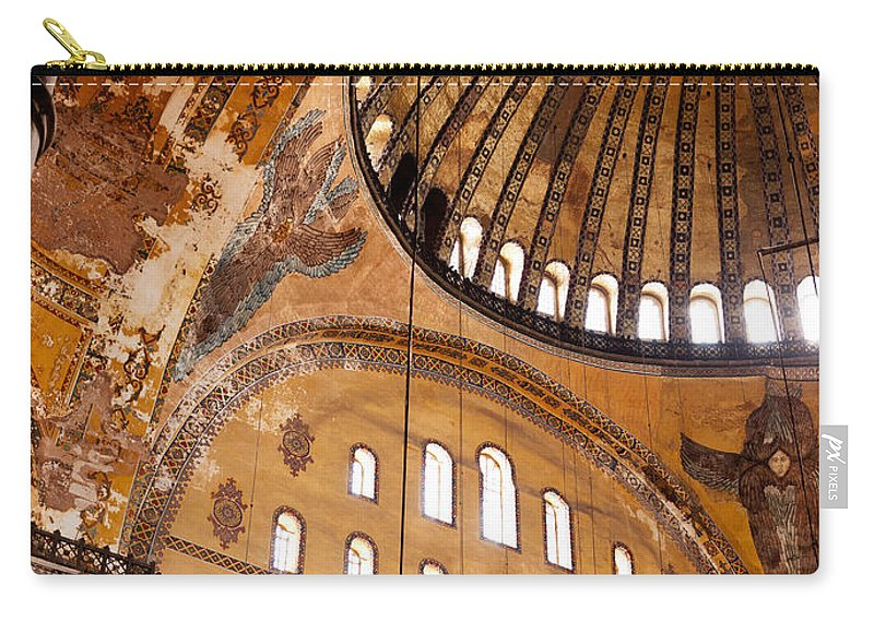 Istanbul Carry-all Pouch featuring the photograph Hagia Sophia Dome 03 by Rick Piper Photography