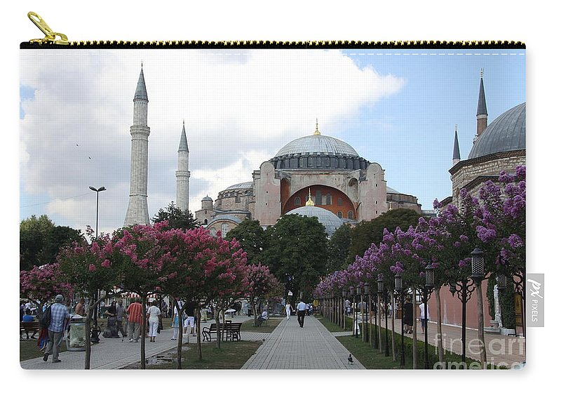 Hagia Sophia Carry-all Pouch featuring the photograph Hagia Sophia I - Istanbul - Turkey by Christiane Schulze Art And Photography