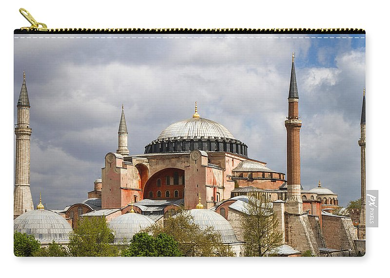 Hagia Sophia Carry-all Pouch featuring the photograph Hagia Sophia Istanbul by For Ninety One Days