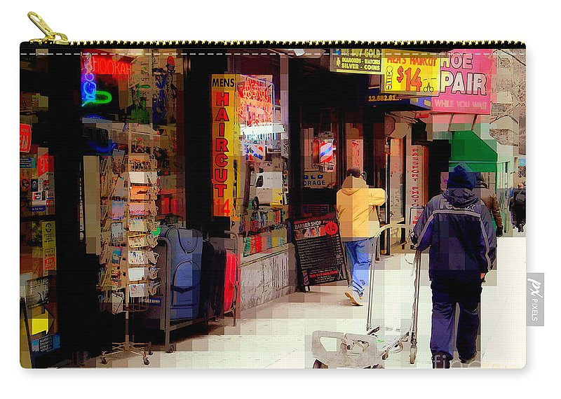 Street Sign Carry-all Pouch featuring the photograph Haircut by Miriam Danar