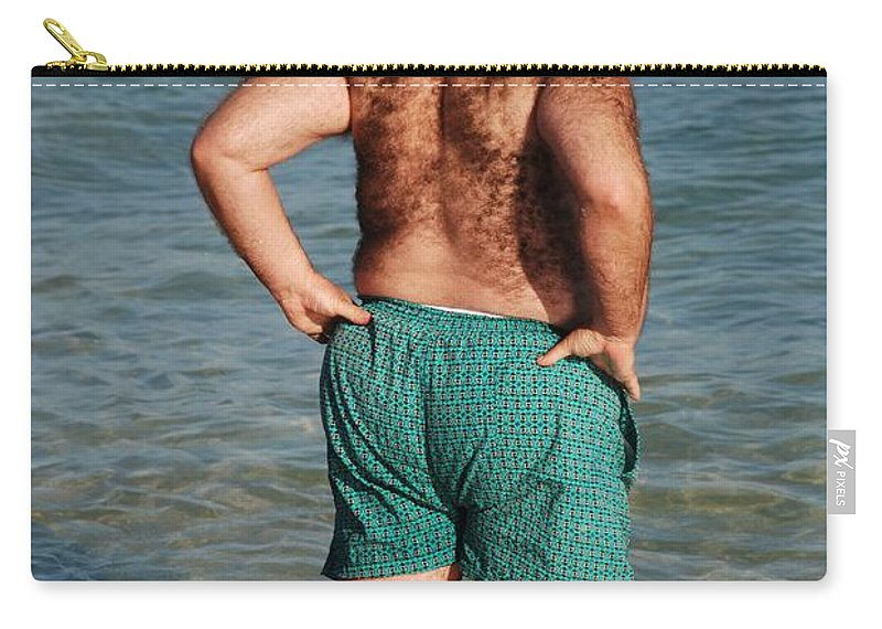 Man Carry-all Pouch featuring the photograph Hairy Ocean by Rob Hans