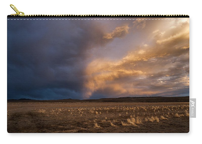 Sky Carry-all Pouch featuring the photograph Half And Half by Cat Connor